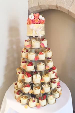 Wedding Cakes - White Chocolate Wrapped Gateaux Tower