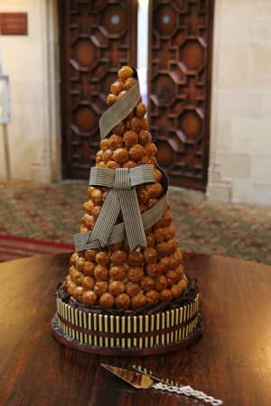 Wedding Cakes - Chocolate Ribbon Croquembouche