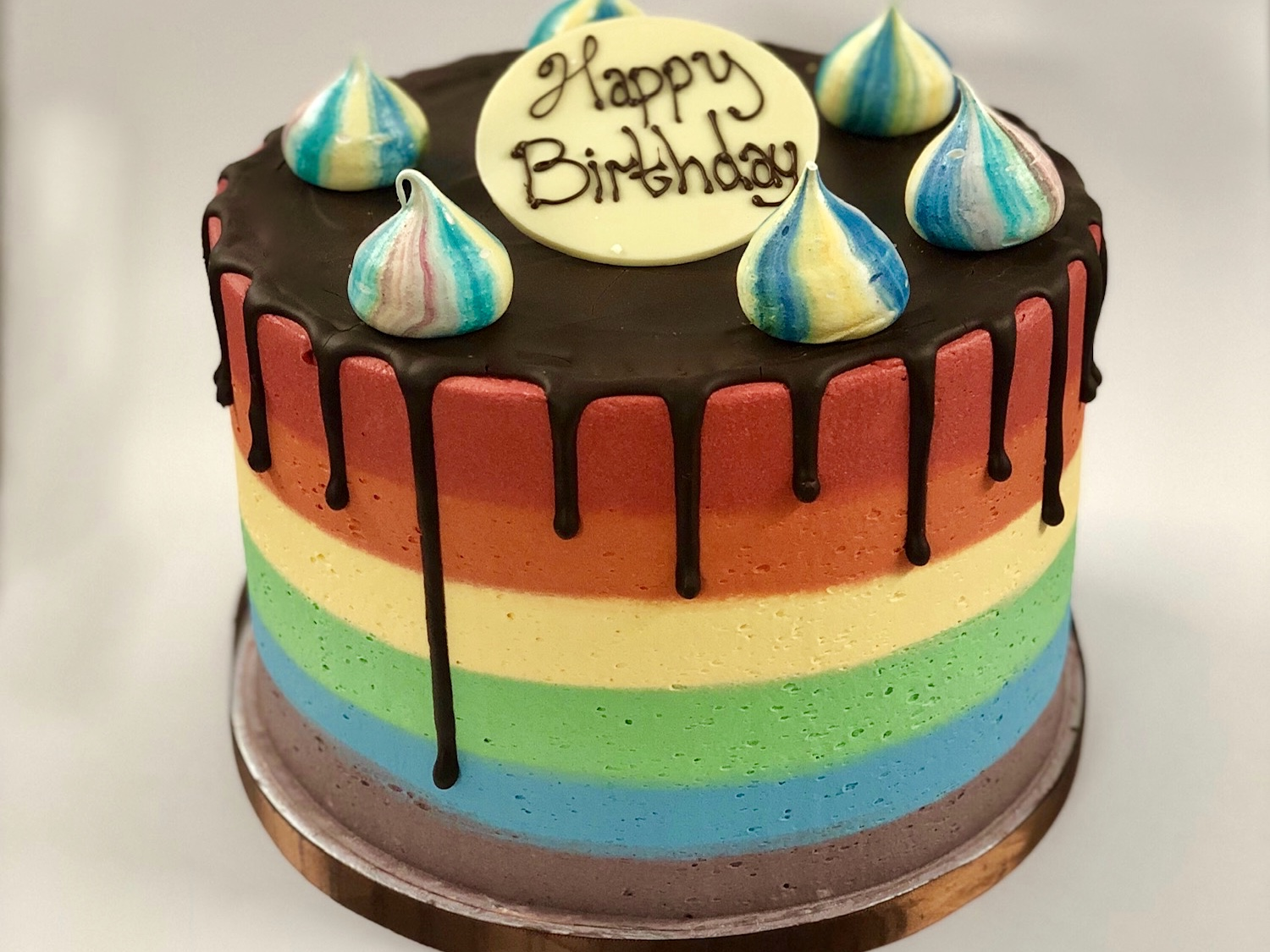 Celebration Cakes - Rainbow Funfetti Cake
