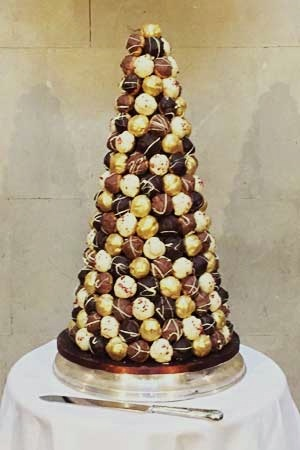 Wedding Cakes - Chocolate Croquembouche