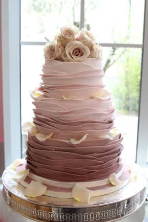 Wedding Cakes - Dusty Pink Ombre Cake