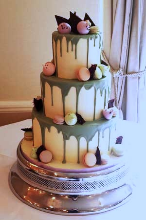 Wedding Cakes - Blue Drip Wedding Cake