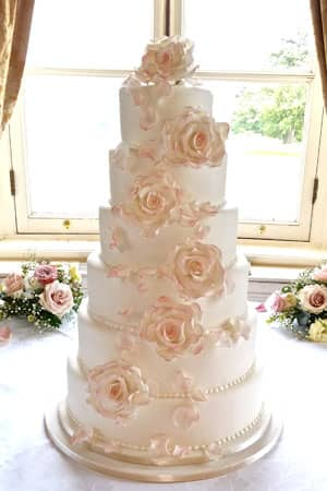 Blush Rose Wedding Cake