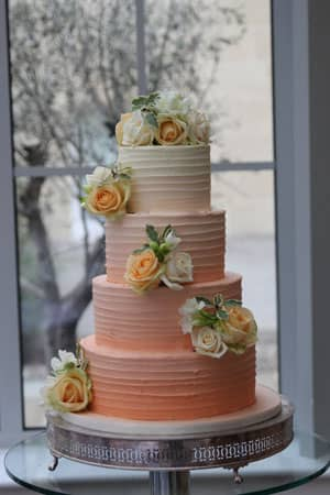 Wedding Cakes - Peach Ombre Butter Cream
