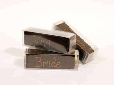Wedding Favours - Truffle Name Bar Favour