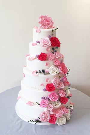 Wedding Cakes - Sugar Flower Cascade