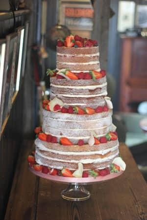 Wedding Cakes - Vintage Berry Naked Cake