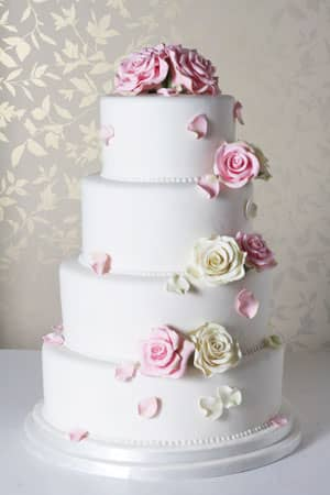 Wedding Cakes - English Rose Bloom Wedding Cake