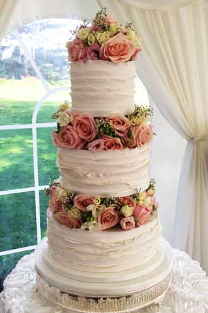 Wedding Cakes - Ruffles and Flowers