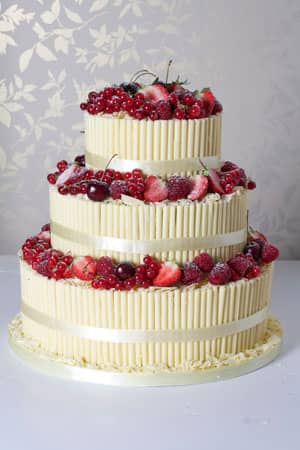 Wedding Cakes - Chocolate Cigarello Berry Fountain
