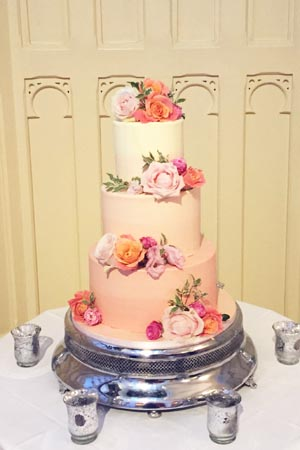 Wedding Cakes - Peach Ombre Smooth Buttercream