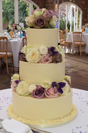 Wedding Cakes - Butter Cream and Flowers