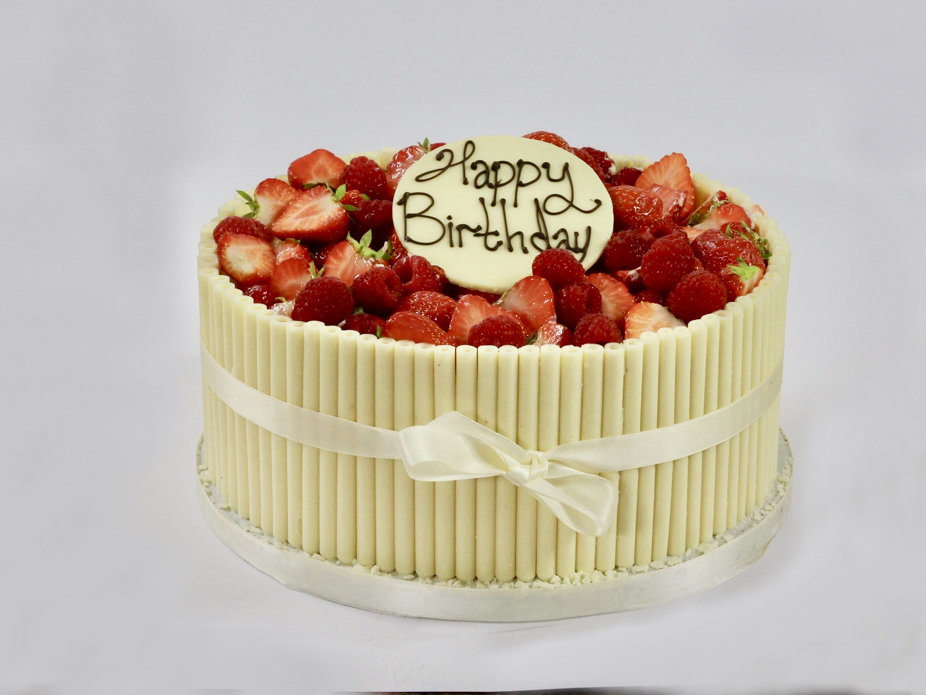 Celebration Cakes - White Chocolate Cigarello Birthday Cake