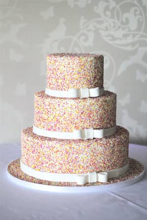 Wedding Cakes - Hundreds and Thousands wedding cake