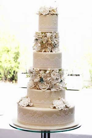 Wedding Cakes - Lace and Blooms