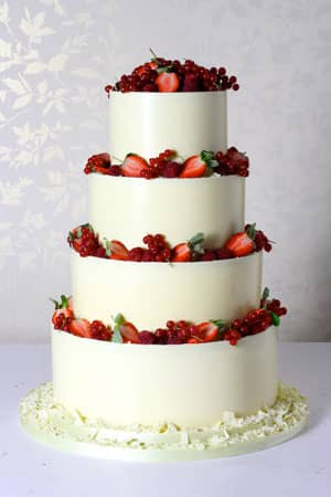 Wedding Cakes - White Chocolate Wrapped Berry Fountain