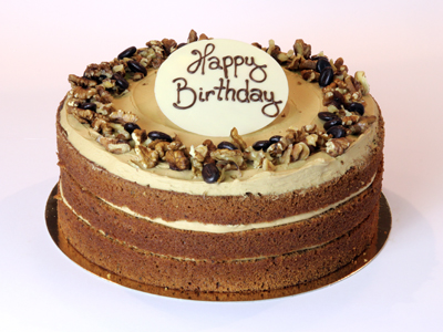 Celebration Cakes - Coffee and Walnut Celebration Cake