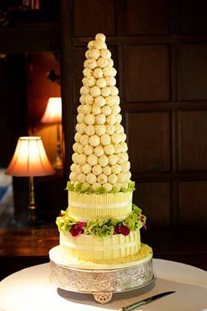 Wedding Cakes - Cake ball tower and base cake