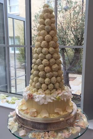Wedding Cakes - White Chocolate Cake Ball Tower