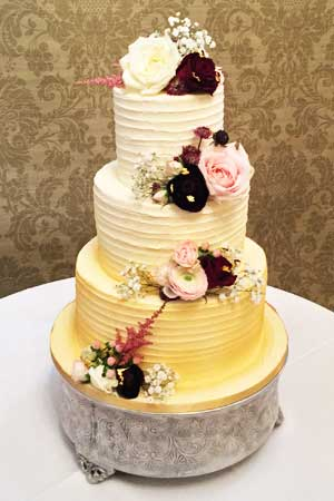 Wedding Cakes - Ombre Gold Buttercream Wedding Cake