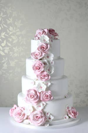 Wedding Cakes - Pink Dream Cascade