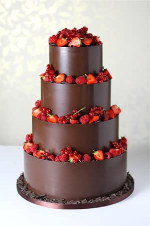 Wedding Cakes - Dark Chocolate Wrapped Wedding Cake