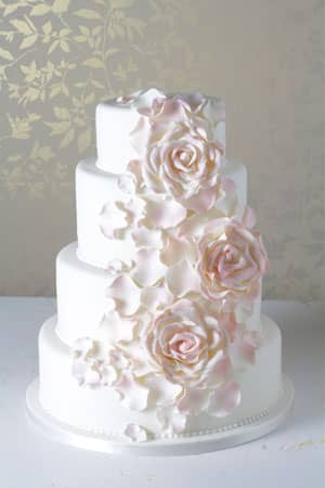 Wedding Cakes - Blush Rose Bloom Wedding Cake