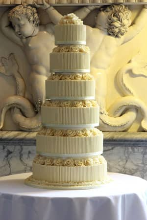Wedding Cakes - White Chocolate Rose and Cigarello Cake
