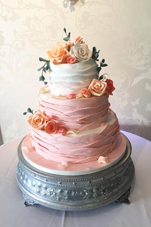 Wedding Cakes - Coral Ombre Cake