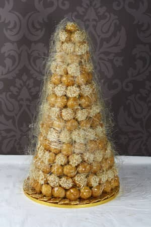 Wedding Cakes - Spun Sugar Croquembouche