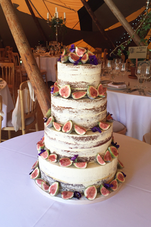 Wedding Cakes - Skimmed Naked Cake