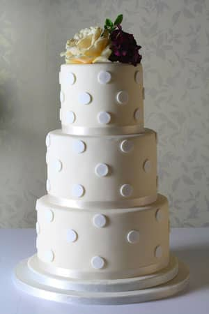 Wedding Cakes - Ivory Polka Dot Cake