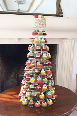 Wedding Cakes - Colour and Fun Wedding Cake Tower