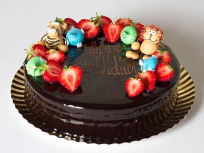 Celebration Cakes - Jungle Lion and Friends Chocolate Cake