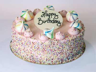 Celebration Cakes - Pink Sprinkles Cake