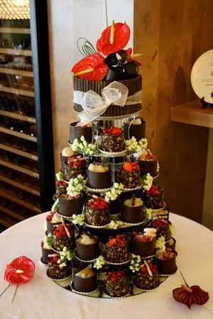 Wedding Cakes - Dark Chocolate Wrapped  Tower
