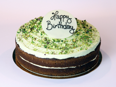 Celebration Cakes - Pistachio Gateau Cake