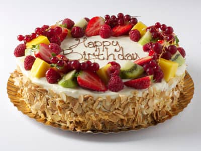 Celebration Cakes -  Fresh Cream and Seasonal Fruit Cake