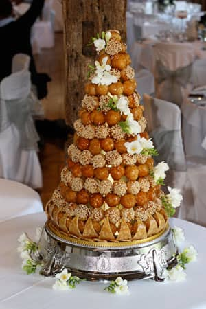 Wedding Cakes - Croquembouche and Fresh Flowers