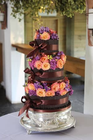 Wedding Cakes - Dark Chocolate Cigarello and Roses